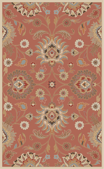 3' x 12' Tawny Brown and Blue Hand Tufted Wool Area Throw Rug Runner - IMAGE 1