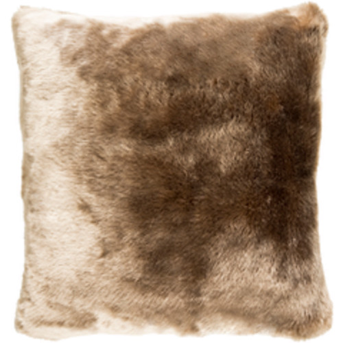 """20"""" Chocolate Brown and Beige Contemporary Square Throw Pillow - IMAGE 1"""