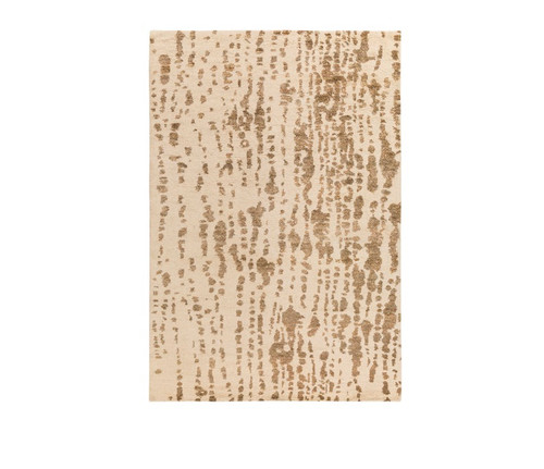 5' x 7.5' Camel Brown and White Contemporary Hand Woven Rectangular Area Throw Rug - IMAGE 1