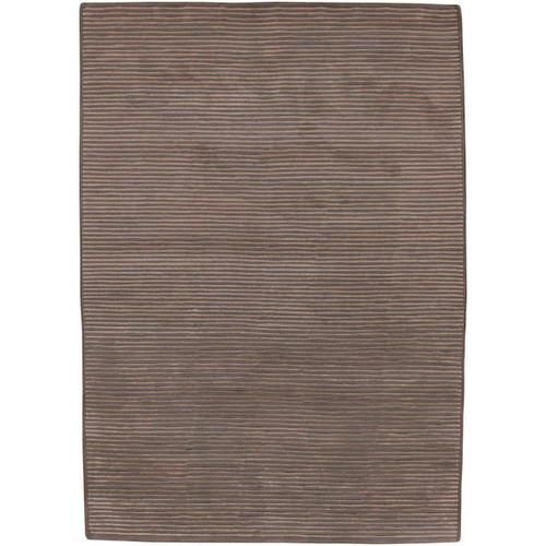2' x 3' Solitary Espresso Brown Hand Knotted Rectangular Area Throw Rug - IMAGE 1