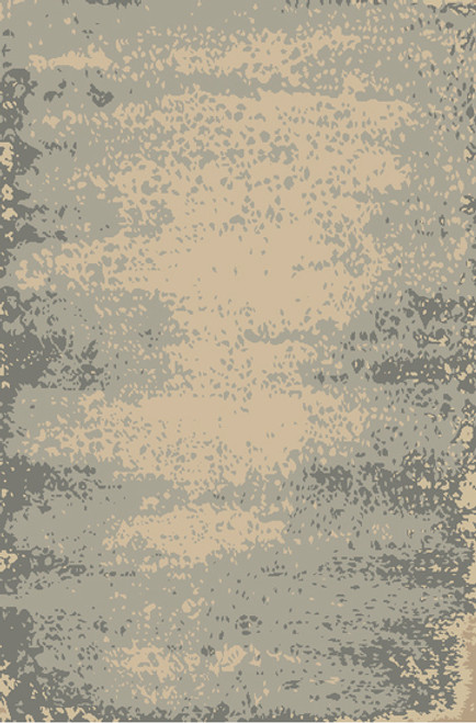 2' x 3' Transient Tide Cool Gray and Champagne Hand Knotted Area Throw Rug - IMAGE 1