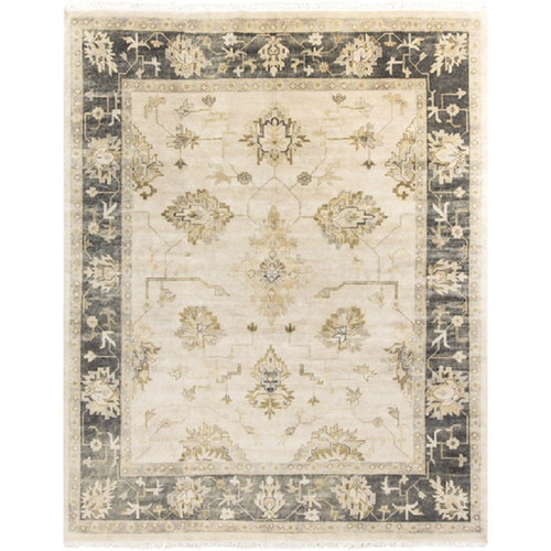 8' x 10' Phoenix Olive Green and Beige New Zealand Wool Area Throw Rug - IMAGE 1