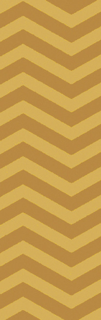 2.5' x 8' Shifted Perspective Space Setting Sun and Pharaoh Prized Gold Hand Woven Area Throw Rug Runner - IMAGE 1