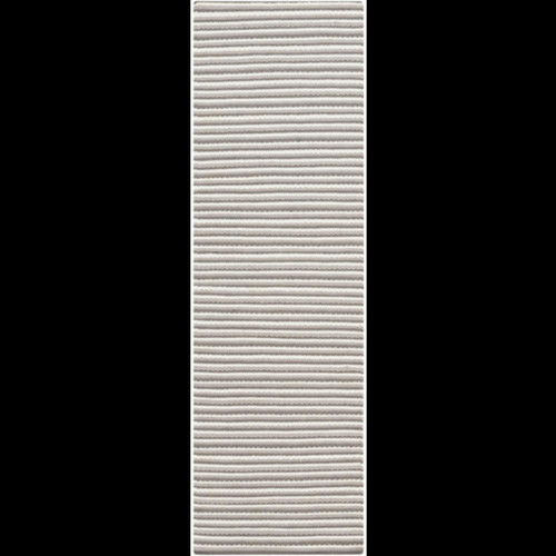 2.5' x 8' Simplicity Stripes Taupe Gray and White Hand Woven Rectangular Area Throw Rug Runner - IMAGE 1