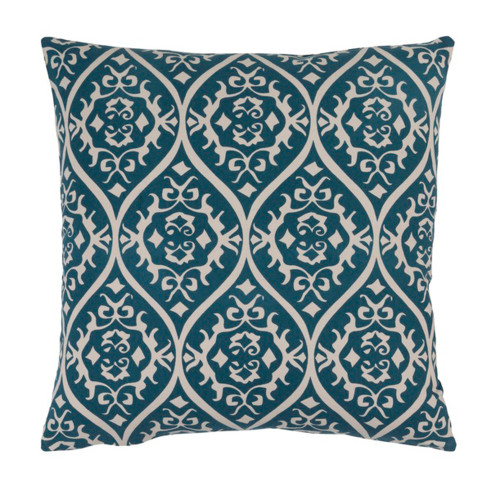 """18"""" Heavenly Hourglass Imperial Green and Beige Decorative Throw Pillow - Down Filler - IMAGE 1"""