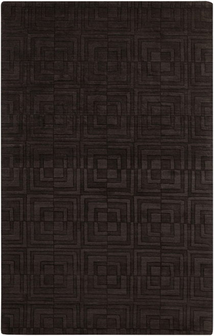 8' x 11' Espresso Brown Solid Hand Loomed Rectangular Area Throw Rug - IMAGE 1