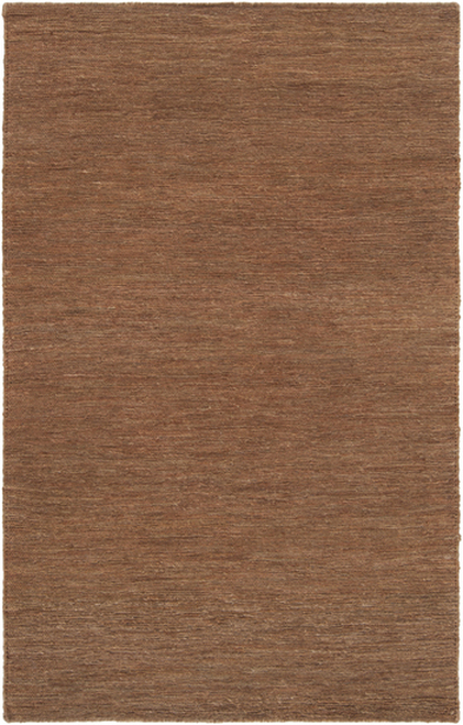 2' x 3' Brown Contemporary Hand Woven Area Throw Rug - IMAGE 1