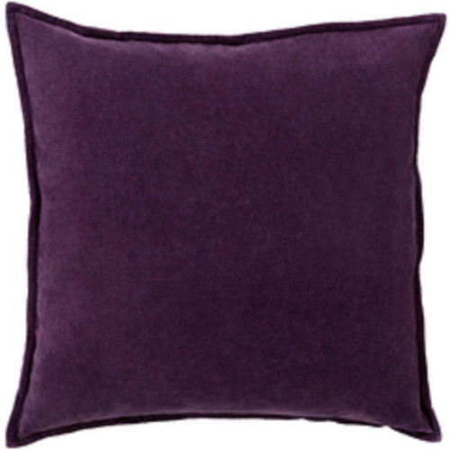 "18"" Calma Semplicita Eggplant Purple Decorative Square Throw Pillow - Down Filler - IMAGE 1"