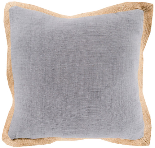 """20"""" Simple Life Gray and Brown Throw Pillow - Down Filler - IMAGE 1"""