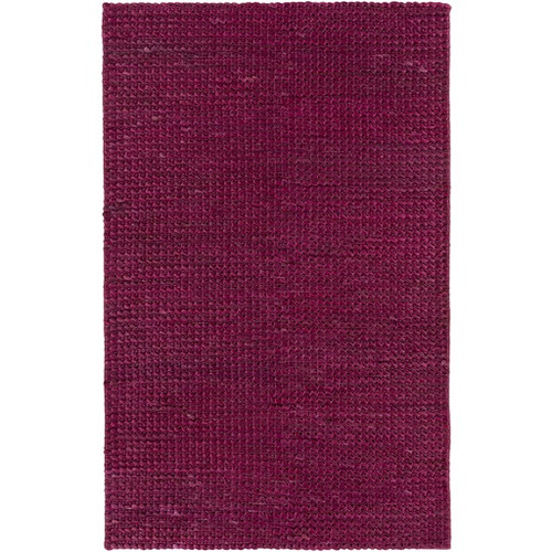 3.5' x 5.5' Abstract Pink Hand Woven Rectangular Area Throw Rug - IMAGE 1