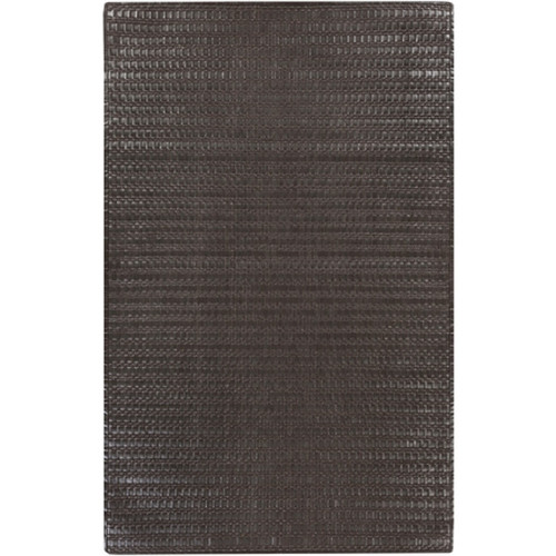 8' x 10' Umber Brown Solid Hand Woven Rectangular Area Throw Rug - IMAGE 1