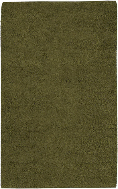 Hunter Green Hand-Woven Rectangular Area Throw Rug Runner 5' x 8' - IMAGE 1
