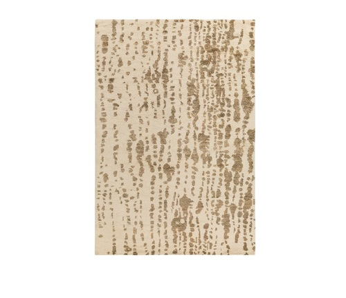 2' x 3' Camel Brown and White Hand Woven Rectangular Area Throw Rug - IMAGE 1
