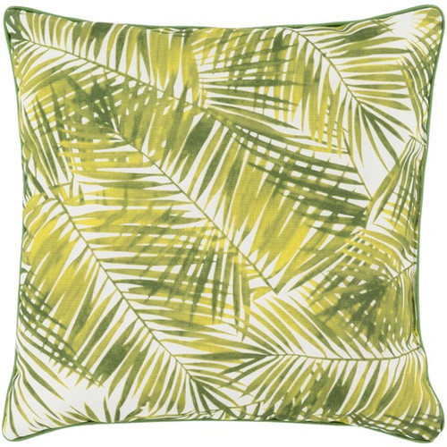 """20"""" Chartuese Green and White Contemporary Square Throw Pillow - IMAGE 1"""