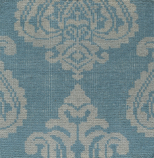 2' x 3' Contemporary Blue and Gray Hand Knotted Wool Area Throw Rug - IMAGE 1
