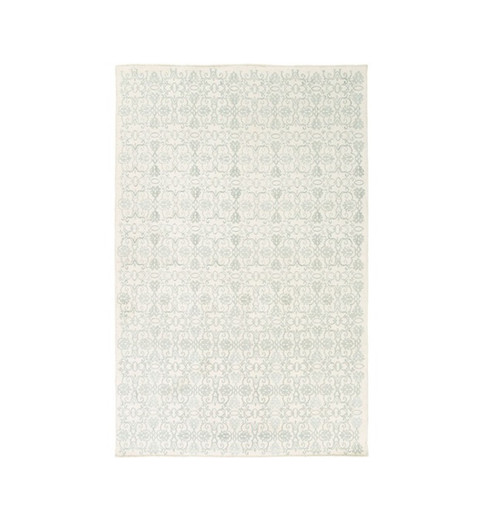 2' x 3.25' Perpetual Leitmotif Gray and White Hand Woven Area Throw Rug - IMAGE 1