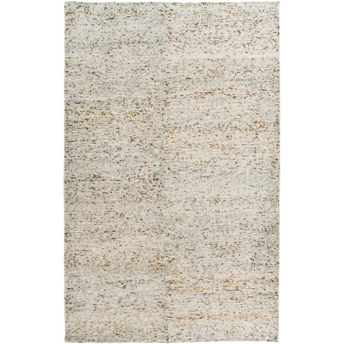 2' x 3' Tan and Gray Hand Knotted Area Throw Rug - IMAGE 1