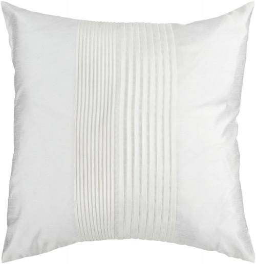 """22"""" Snow White Tuxedo Pleats Decorative Throw Pillow - Polyester Filler - IMAGE 1"""