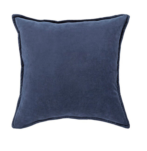 """22"""" Muted Dark Blue Contemporary Woven Decorative Throw Pillow – Down Filler - IMAGE 1"""