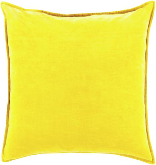 "22"" Chastity's Blush of Pureness Lemon Glacier Yellow Decorative Throw Pillow - IMAGE 1"
