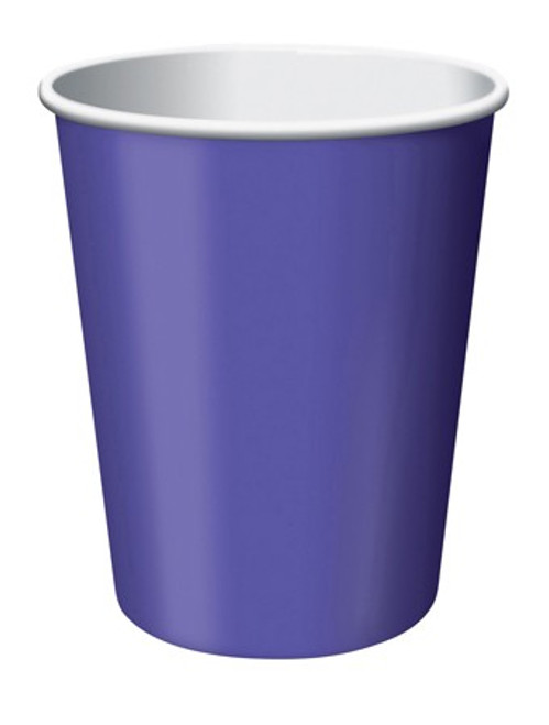 Club Pack of 192 Grape Purple Disposable Paper Drinking Party Tumbler Cups 9oz. - IMAGE 1