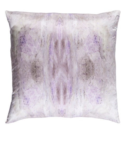 """18"""" Wisteria Purple and Gray Woven Square Throw Pillow - Down Filler - IMAGE 1"""