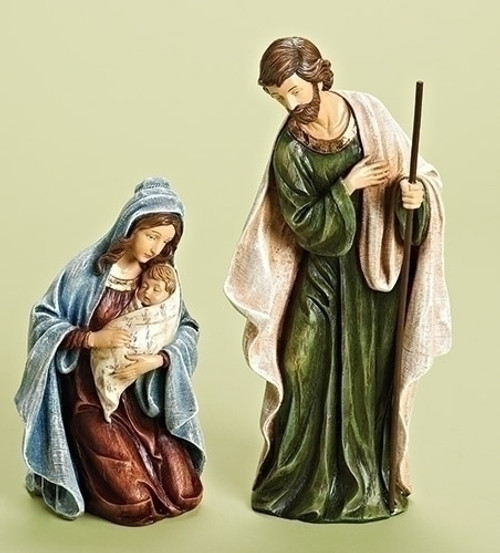 """2-Piece Holy Family Religious Christmas Nativity Statues 12"""" - IMAGE 1"""