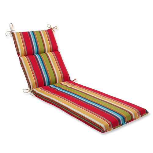 """72.5"""" Awning Stripe Outdoor Patio Chaise Lounge Cushion - IMAGE 1"""