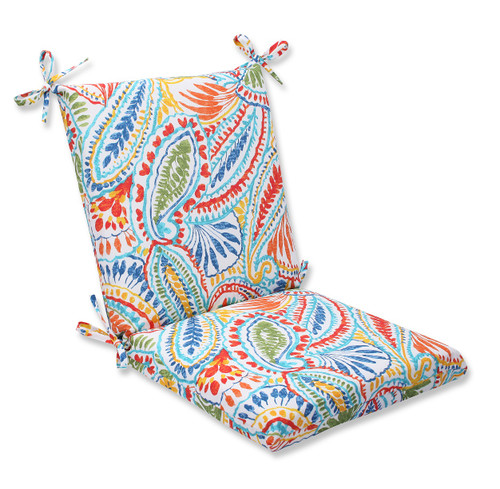 """18"""" x 36.5"""" Ummi Outdoor Patio Square Wicker Chair Cushion - IMAGE 1"""