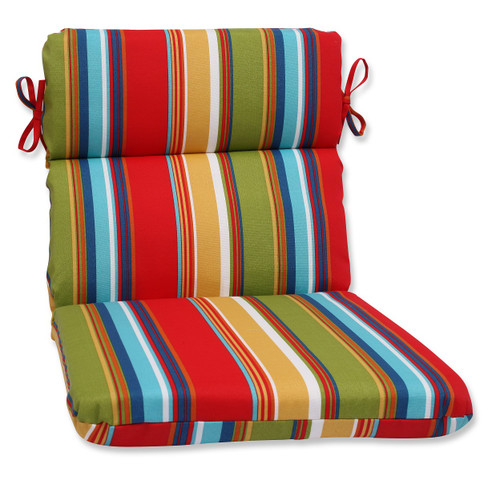 """21"""" x 40.5"""" Westport Garden Outdoor Patio Rounded Chair Cushion - IMAGE 1"""