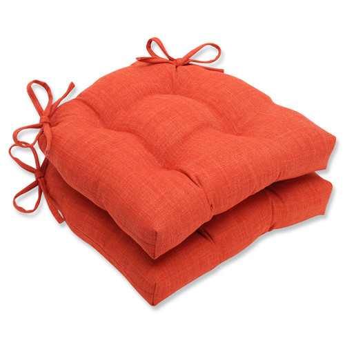 """Set of 2 Pure Shock Reversible Rounded Chair Cushion 15.5"""" x 16"""" - IMAGE 1"""