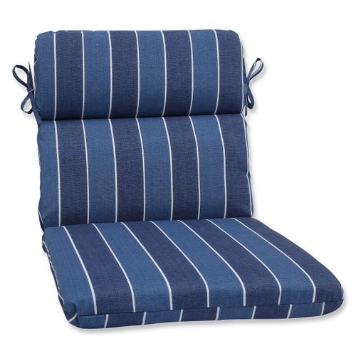 "40.5"" Indigo Blue Outdoor Rectangular Patio Rounded Corners Chair Cushion - IMAGE 1"