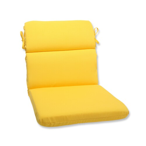 """36.5"""" Chroma Citrus Yellow Outdoor Patio Chair Cushion with Ties - IMAGE 1"""