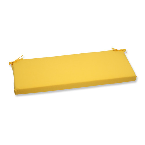 "45"" Chroma Citrus Yellow Outdoor Patio Bench Cushion - IMAGE 1"