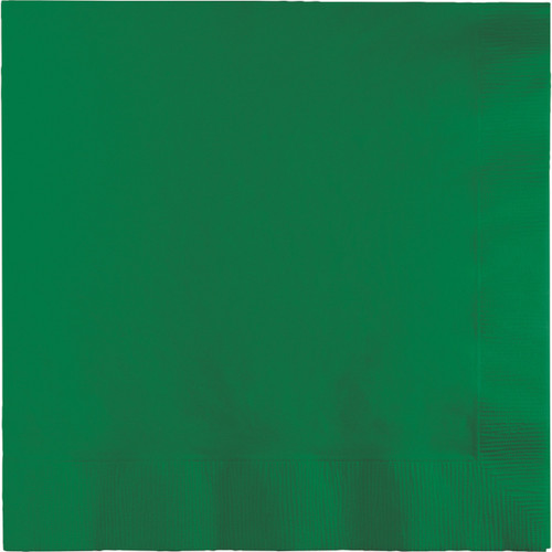 """Club Pack of 600 Premium 2 Ply Emerald Green Disposable Luncheon Napkins 6.25"""" - IMAGE 1"""
