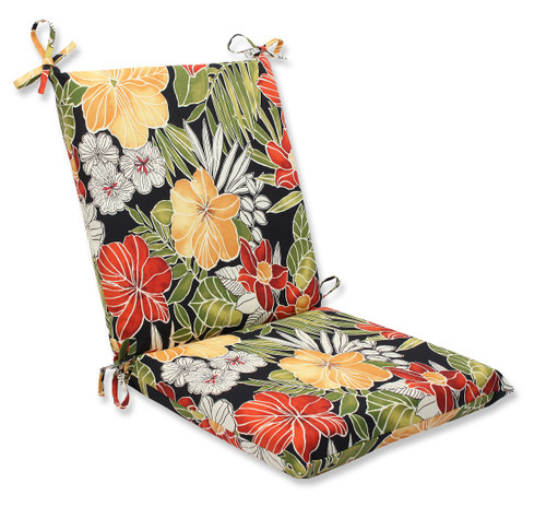 """36.5"""" Clemens Noir Outdoor Patio Seat Cushion with Ties - IMAGE 1"""