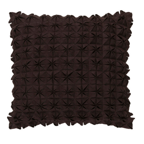 "20"" Origami Elegance Bark Brown Decorative Throw Pillow - Down Filler - IMAGE 1"