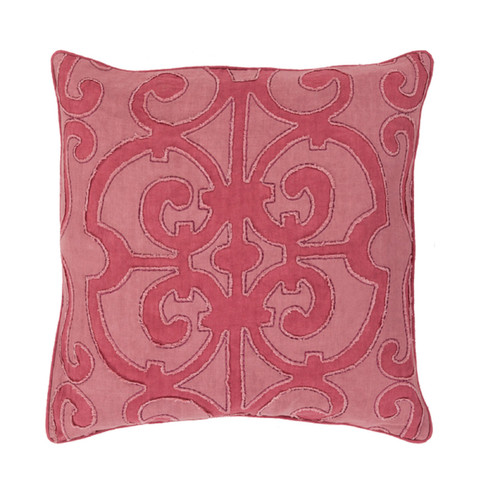 "18"" Burgundy Red and Mauve Purple Decorative Throw Pillow - Down Filler - IMAGE 1"