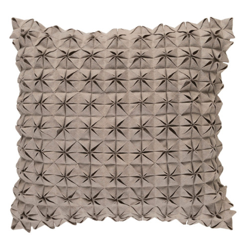 "18"" Origami Elegance Pavilion Taupe Brown Decorative Throw Pillow - Polyester Filler - IMAGE 1"