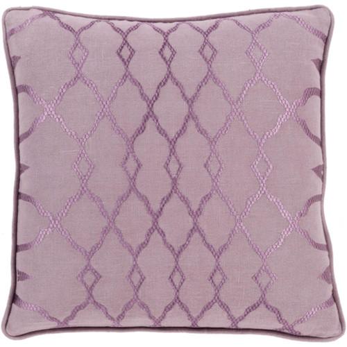 "22"" Mauve Purple Diamond Woven Contemporary Square Throw Pillow - IMAGE 1"