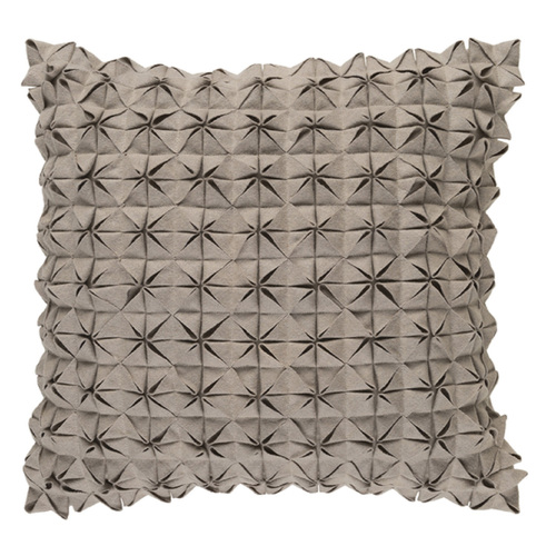 "18"" Origami Elegance Pavilion Taupe Brown Decorative Throw Pillow - Down Filler - IMAGE 1"