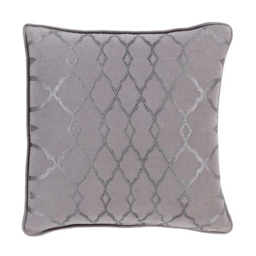 "20"" Purple and Dove Gray Diamond Contemporary Square Throw Pillow - IMAGE 1"
