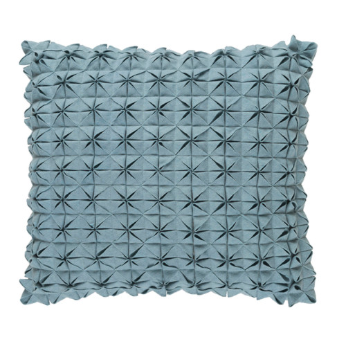 "22"" Origami Elegance Sea Star Gray Decorative Throw Pillow - Polyester Filler - IMAGE 1"