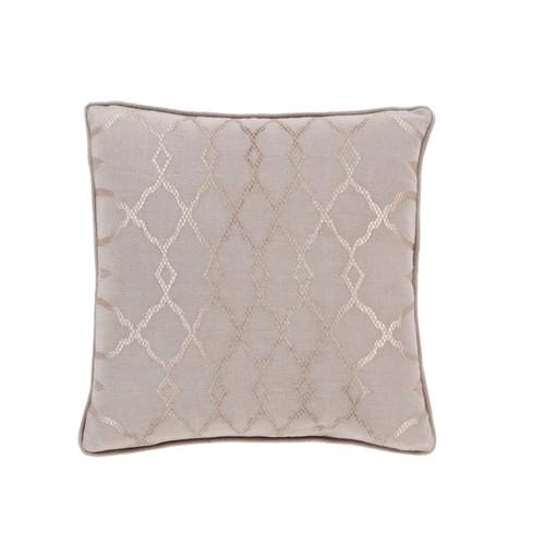 """22"""" Purple and Brown Diamond Contemporary Square Throw Pillow - IMAGE 1"""
