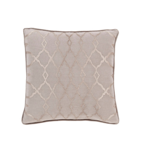 """18"""" Purple and Brown Diamond Contemporary Square Throw Pillow - Down Filler - IMAGE 1"""