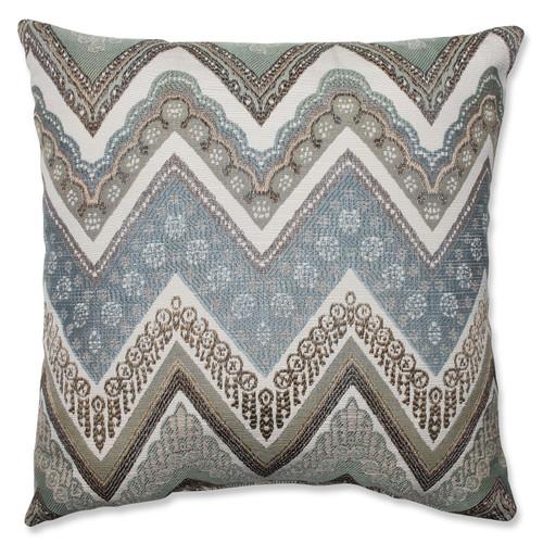 """16.5"""" Gray and White Chevron Square Throw Pillow - IMAGE 1"""