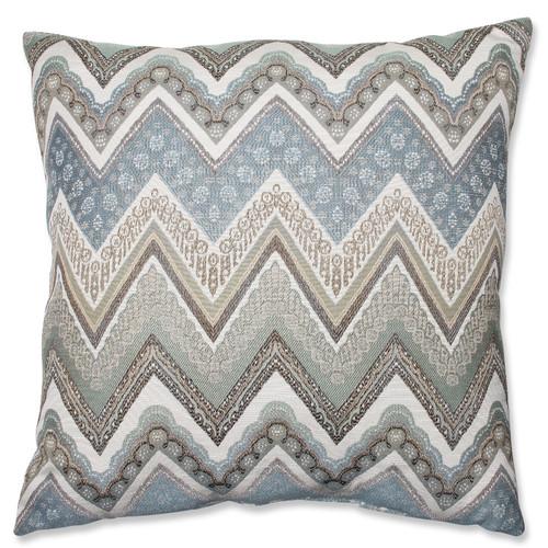 "24.5"" Gray and White Chevron Square Floor Pillow - IMAGE 1"