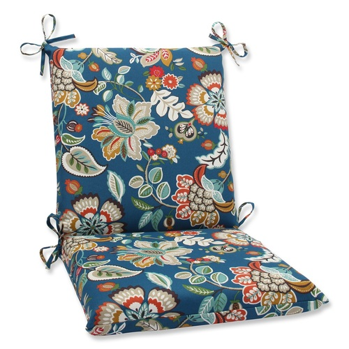 "36.5"" Blue Garden Oasis Outdoor Patio Chair Cushion with Ties - IMAGE 1"