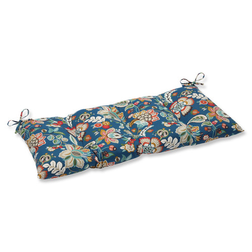 "44"" Blue Garden Oasis Outdoor Patio Decorative Swing/Bench Cushions - IMAGE 1"