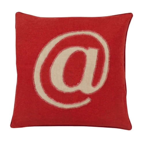 "20"" Crimson Red and Brown Contemporary Square Throw Pillow - IMAGE 1"